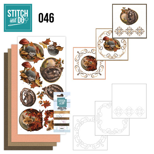Stitch and Do 46- Card Embroidery Kit - Autumn