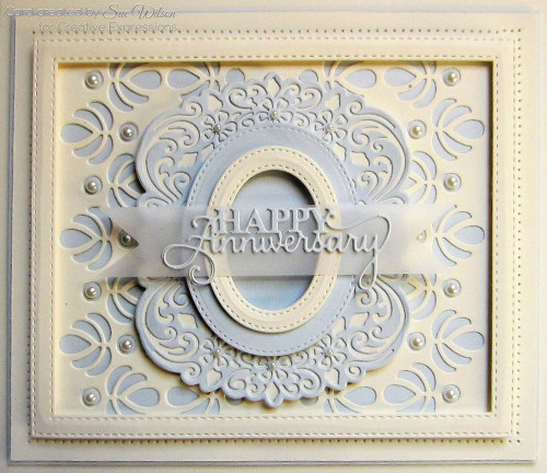 Sue Wilson Mini Expressions Collection Die - Happy Anniversary CEDME031