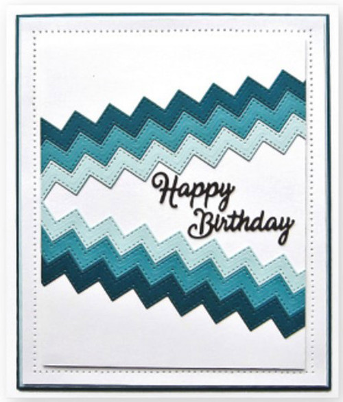 Sue Wilson Clean & Simple Dies - Stitched Zig Zag Borders CED8403