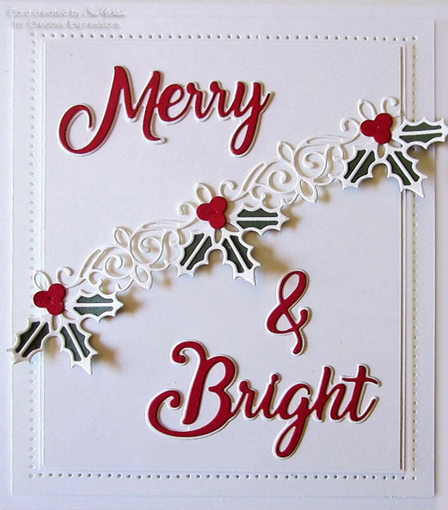 Sue Wilson Noble Expressions Collection Die - Merry & Bright CEDNE003