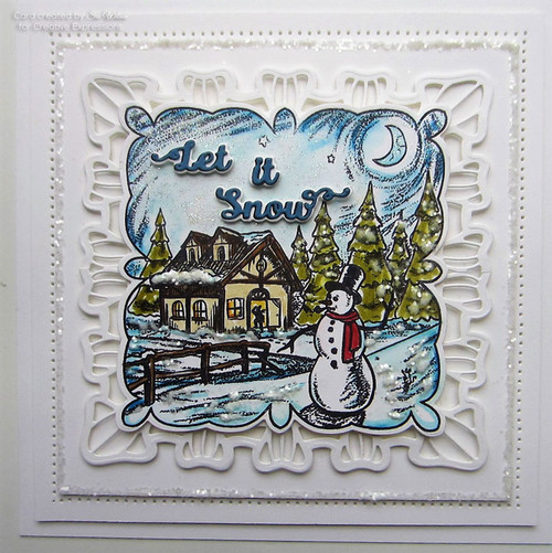 Sue Wilson Stamps To Die For - DENISE'S SNOWY NIGHT UMS896