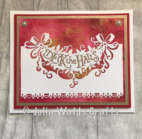 Creative Expressions Paper Cuts Collection Die - Deck the Halls  CEDPC1086 PRE-ORDER 15% Off
