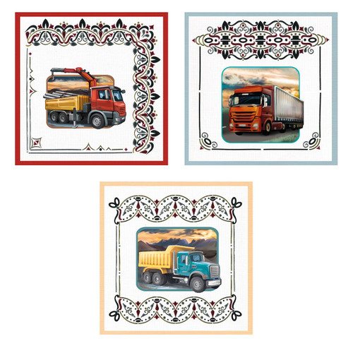 Dot & Do 3D Push Out Kit Amy Design - It's a Man's World - Trucks