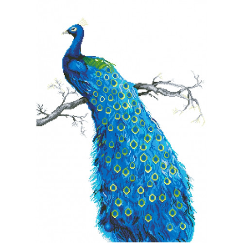 Diamond Dotz Facet Art/5D Diamond Painting Kit - Blue Peacock
