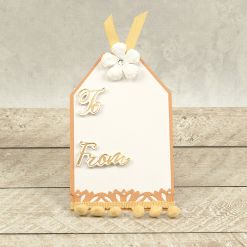 Couture Creations Mini Cut Foil & Emboss Die - Dazzlia - To & From Sentiment