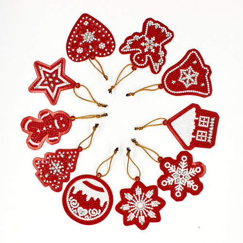 5D Diamond Painting Greeting Tags /Ornaments - Shapes Crystal/AB