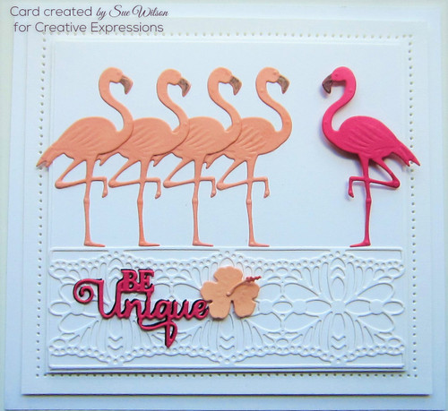 Sue Wilson Necessities Flamingo Collection - Tropical Flora CED23037