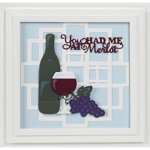 Sue Wilson Necessities Collection - Merlot Craft Die CED23033 - Pre-Order 15% Off  FREE SHIPPING