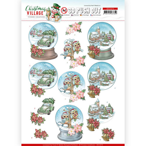 Hobbyjournaal 185 with free Christmas Village Push-Out Sheet