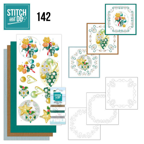 Stitch and Do 142 - Card Embroidery Kit -Christmas Baubles