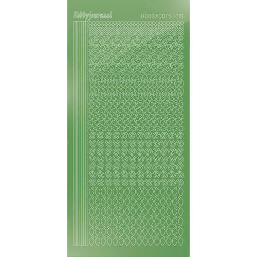 Hobbydots Sticker Series #19  - Mirror Lime