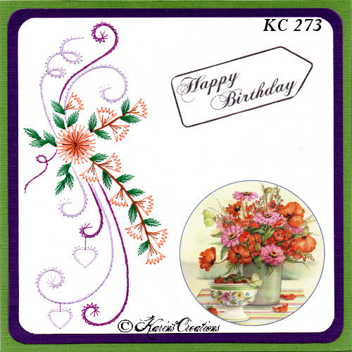Karin's Creations Card Stitching e-Pattern - KC273e