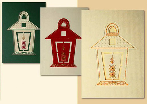 Christmas Stitching & Embossing Stencil - Lantern