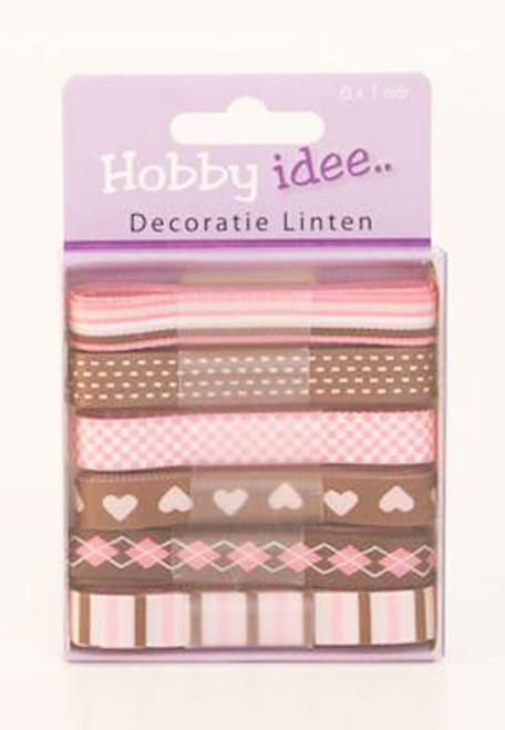 Hobby Idee Ribbon Set 2 - 6 x 1m x 6mm