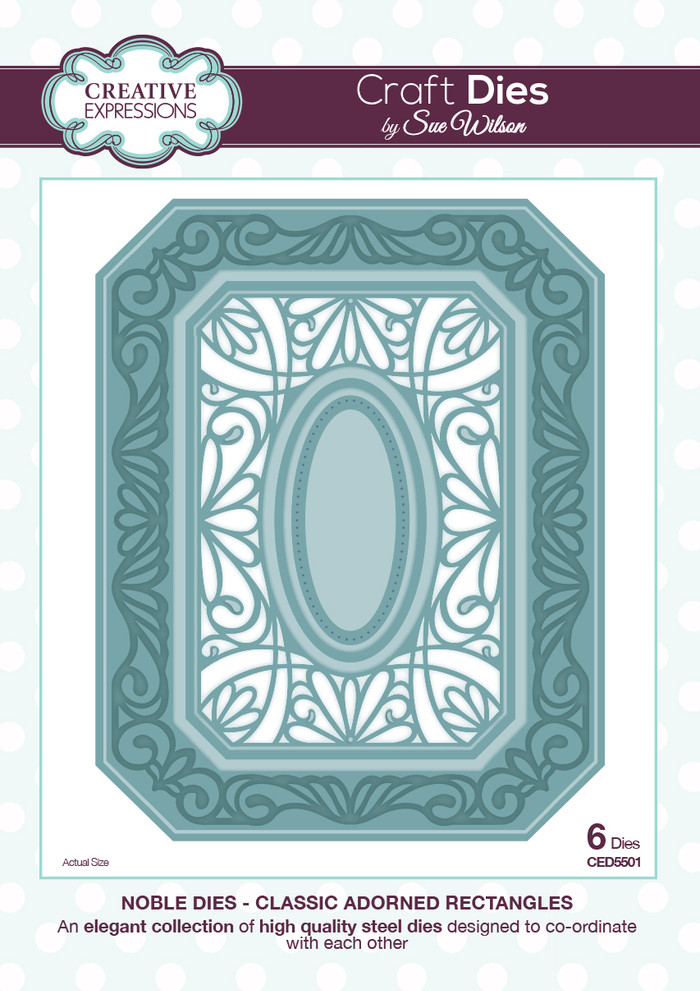 Sue Wilson - The Noble Collection - Classic Adorned Rectangles Dies CED5501