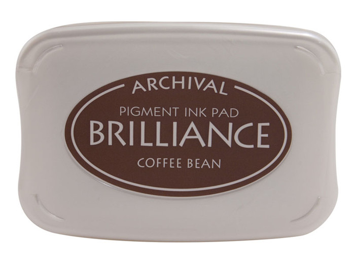 Brilliance Pigment Ink Full Size Pad - Coffee Bean