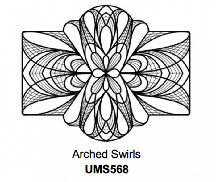 Sue Wilson Stamps To Die For - ARCHED SWIRLS UMS568 - 10% Off FREE POSTAGE Pre-Order