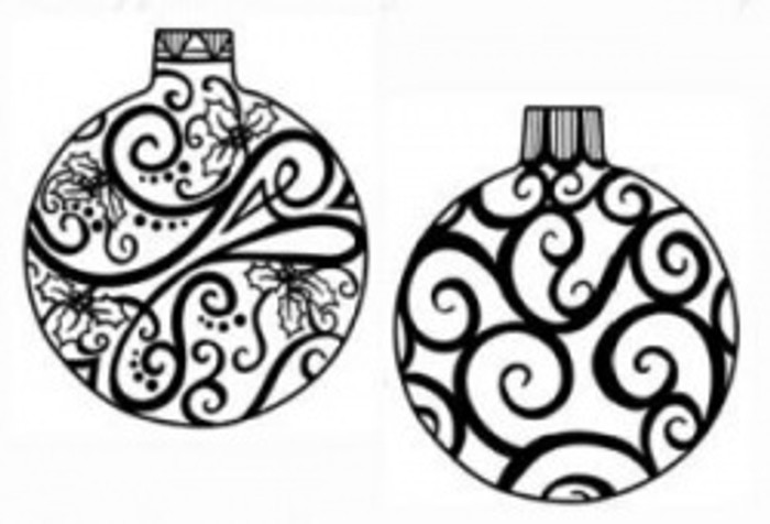 Sue Wilson Stamps To Die For - MINI HOLLY & SWIRL BAUBLE UMS535 - 10% Off FREE POSTAGE Pre-Order