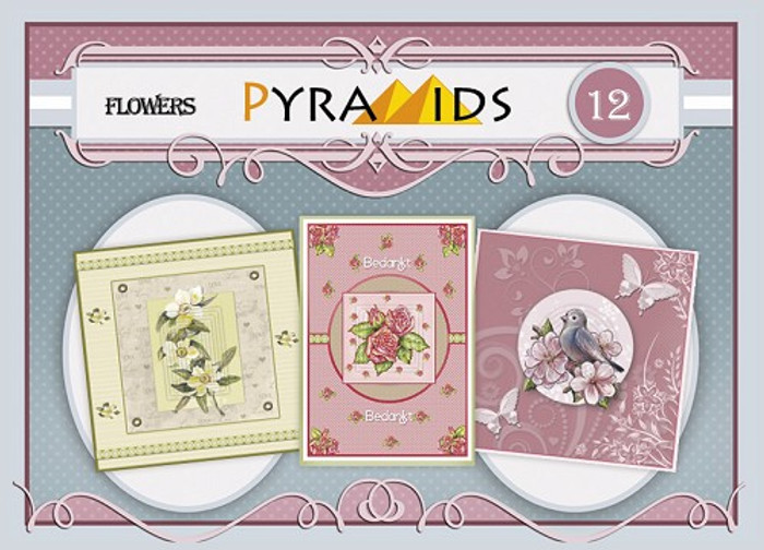 3D Pyramids Booklet - Flowers