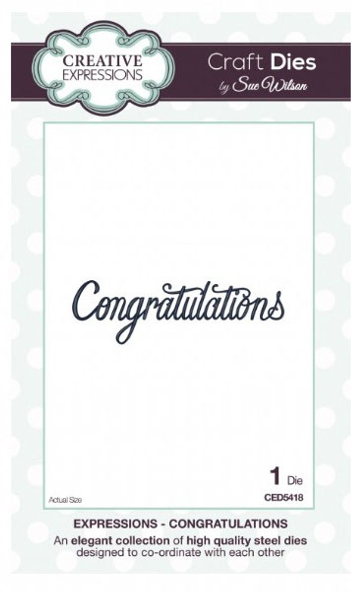 Sue Wilson - Expressions Collection - Congratulations Die CED5418 - 15% Off