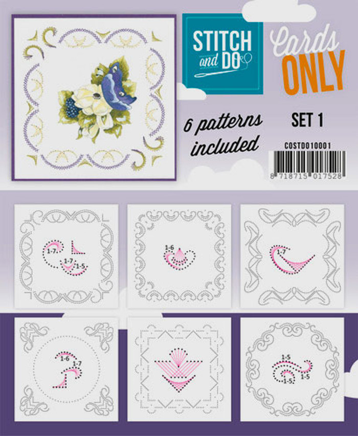 Stitch and Do Card Stitching Cardlayers Only - Set 1