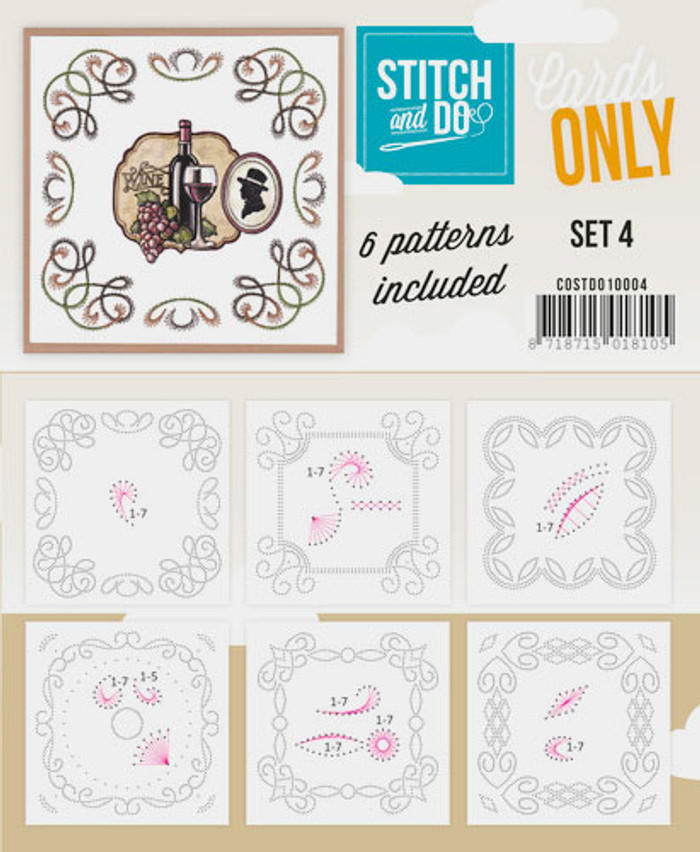 Stitch and Do Card Stitching Cardlayers Only - Set 4