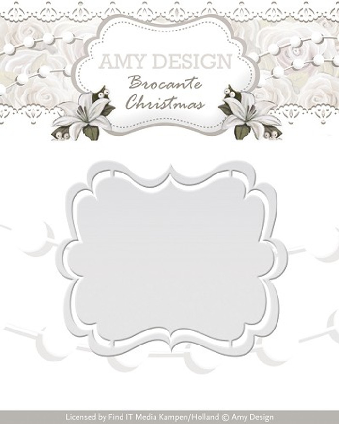 Amy Design - Brocante Christmas Die - Label  AD10032