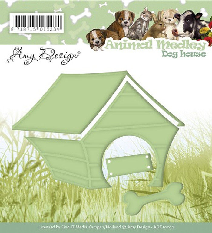 Amy Design - Animal Medley - Dog House Die -   ADD10022