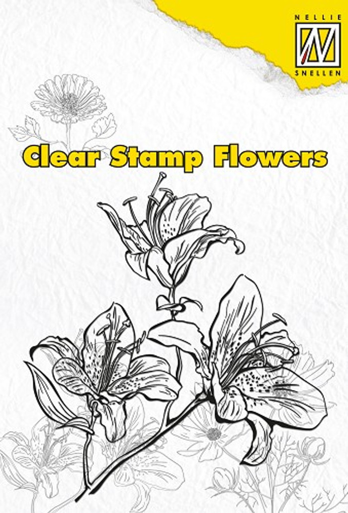 Nellie Snellen Clear Flower Stamp - Lily  FLO003