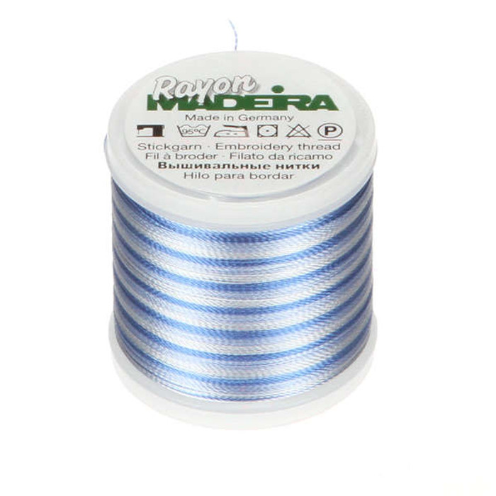 Madeira Rayon Embroidery Thread 40wt 200m - Pastel Blue Ombre