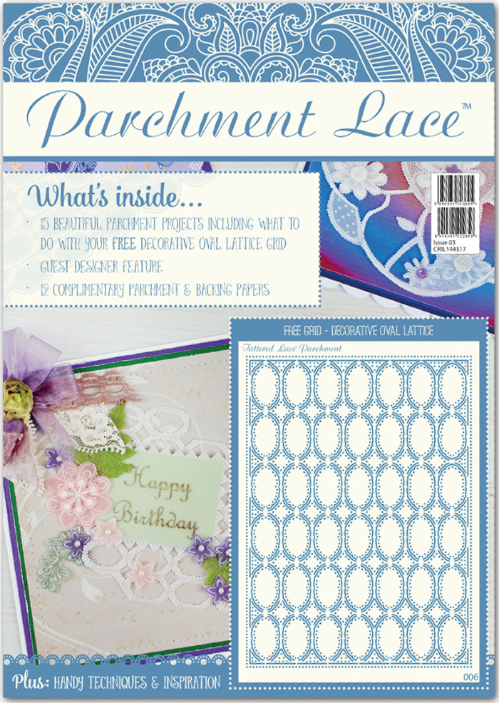 Tattered Lace Parchment Lace Magazine ISSUE 3 - Free Decorative Oval Lattice Grid