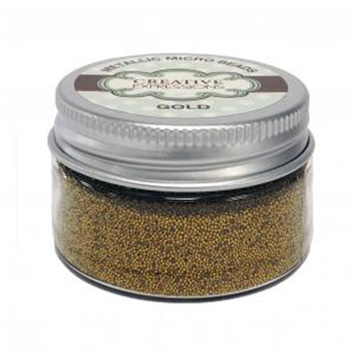 Creative Expressions Metallic Micro Beads - GOLD 50G