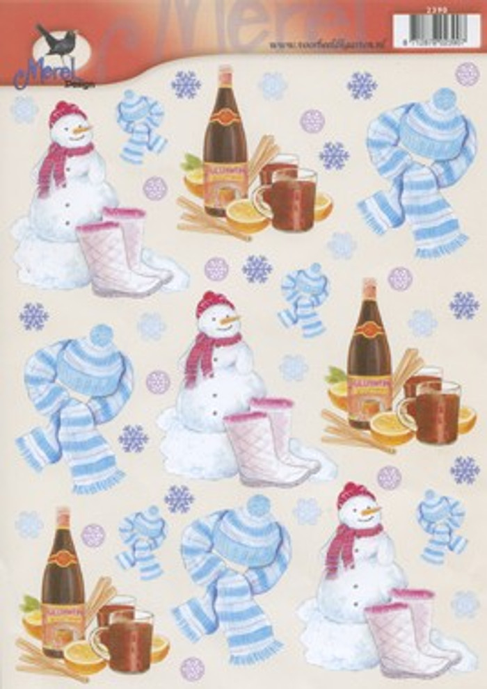 3D Sheet Merel Design - Snow Christmas 2390