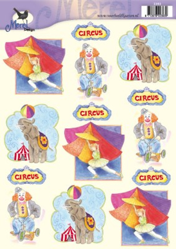 3D Sheet Merel Design - Circus 2383