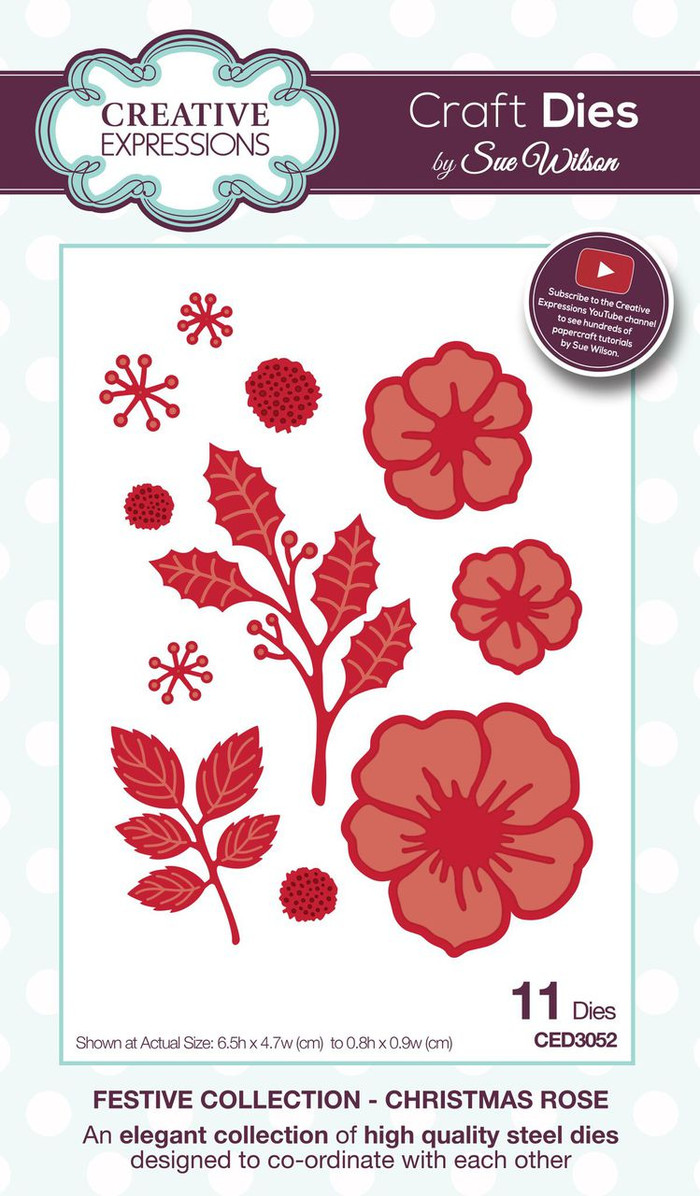 Sue Wilson - The Festive Collection - Christmas Rose CED3052 - Pre-Order 15% Off