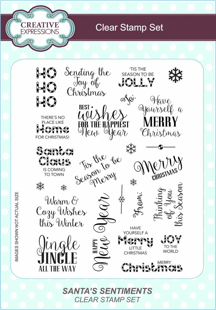 Creative Expressions Clear Stamp Set - Santa Sentiments CEC772 - Pre-Order 15% Off