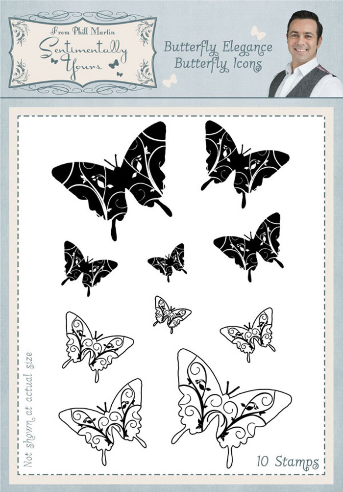 Sentimentally Yours Butterfly Elegance Butterfly Icons Clear Stamp Set SYBEBI - Pre-Order 15% Off