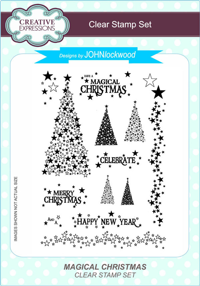 Creative Expressions Magical Christmas A5 Clear Stamp Set by John Lockwood CEC797 - Pre-Order 15% Off