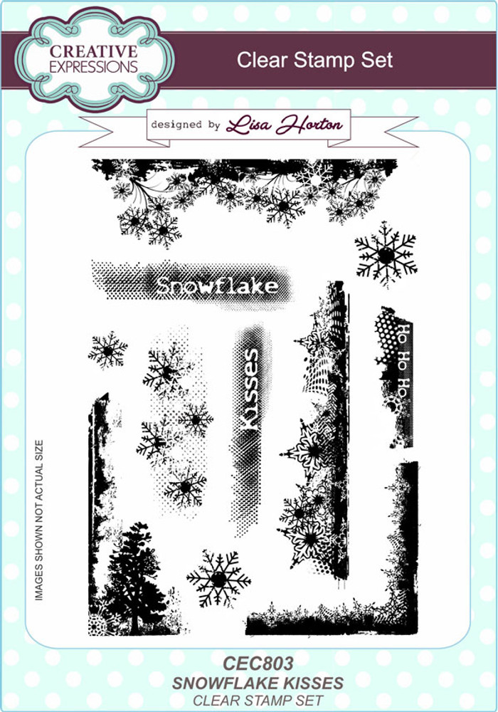 Creative Expressions Snowflake Kisses Clear Stamp Set by Lisa Horton CEC803 - Pre-Order 15% Off