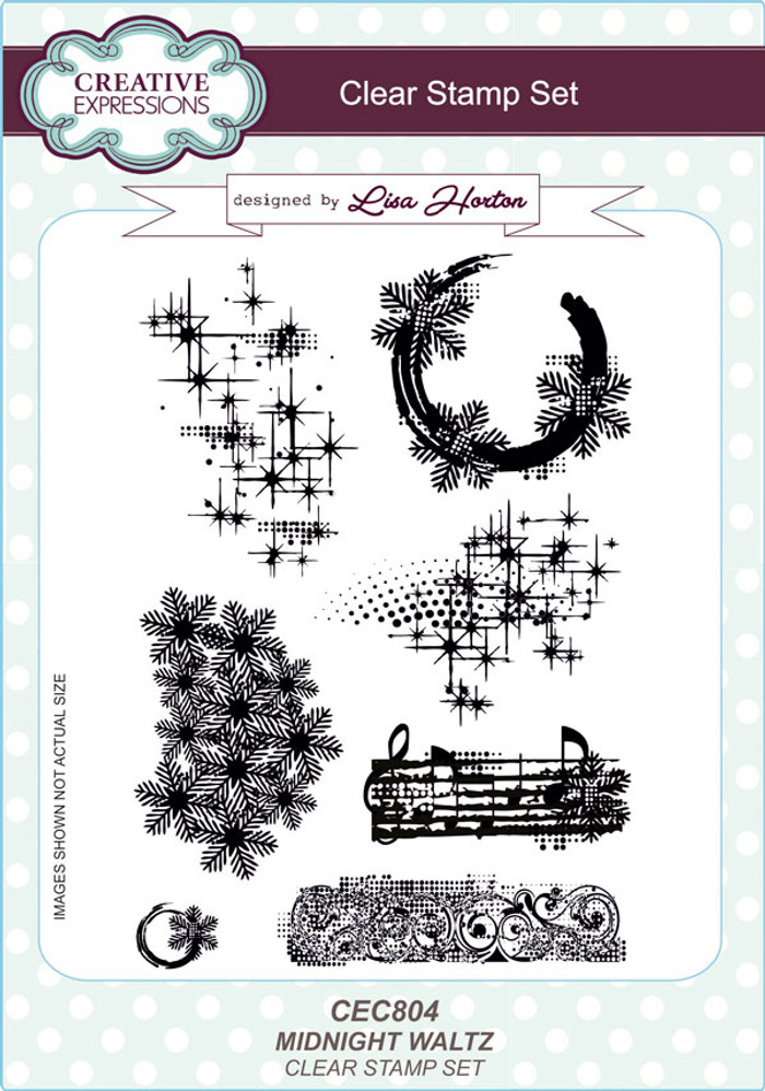 Creative Expressions Midnight Waltz Clear Stamp Set by Lisa Horton CEC804 - Pre-Order 15% Off
