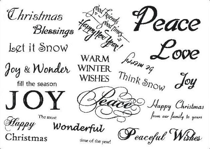 Creative Expressions A5 Unmounted Stamp Plate - Winter Greetings - 17 Stamps Pre-Order 15% Off