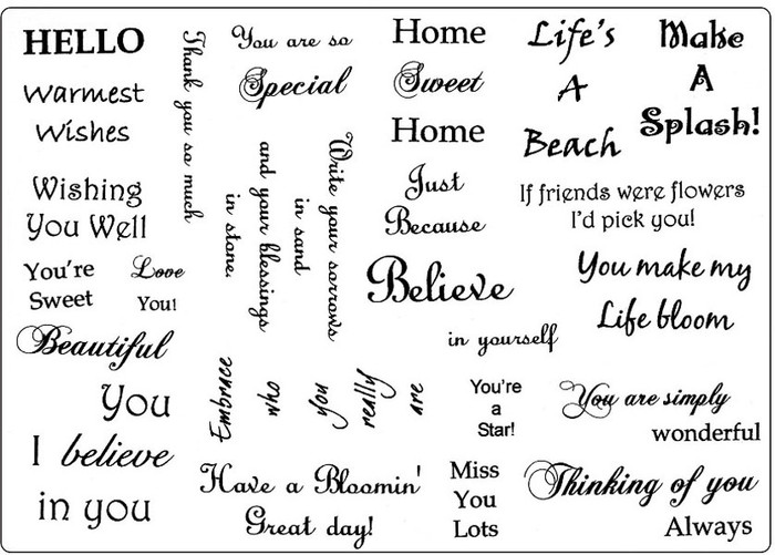 Creative Expressions A5 Unmounted Stamp Plate - Warmest Wishes - 24 Stamps Pre-Order 15% Off