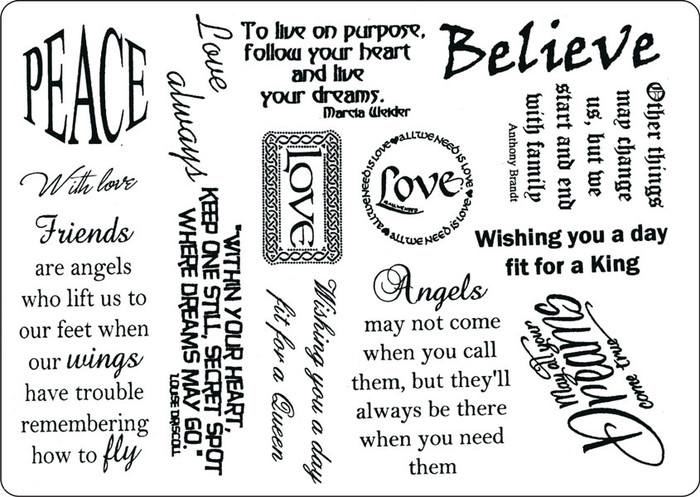 Creative Expressions A5 Unmounted Stamp Plate - Simple Sentiments - 14 Stamps Pre-Order 15% Off