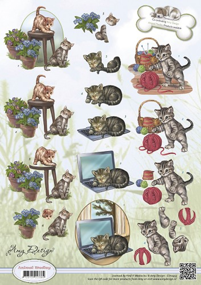 Amy Design 3D Sheet Animal Medley Felines