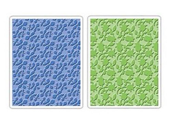 Sizzix Textured Impressions Embossing Folder 2 Pack - COUNTRY & FLOWERING FOLIAGE SET