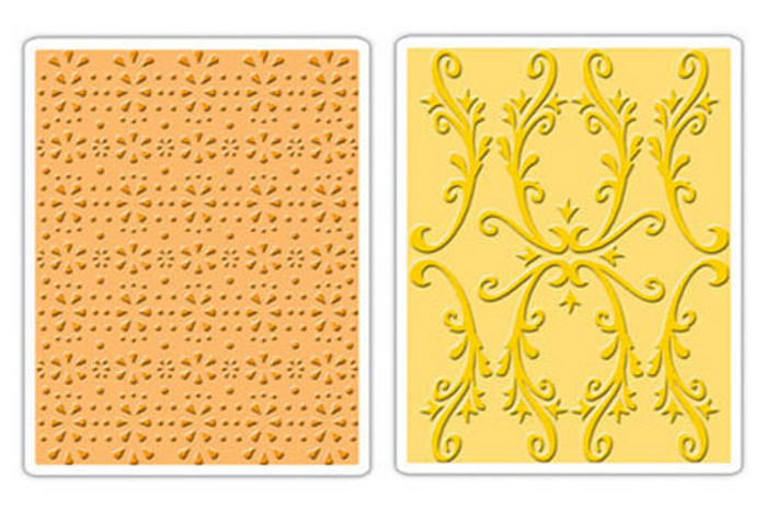 Sizzix Textured Impressions Embossing Folder 2 Pack - COUNTRY COTTAGE SET