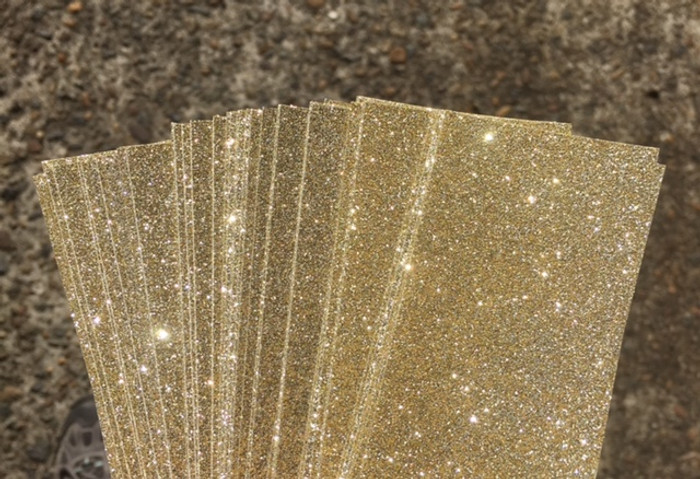 Glitter Card  A4 (210 x 297mm) - GOLD Pack of 4