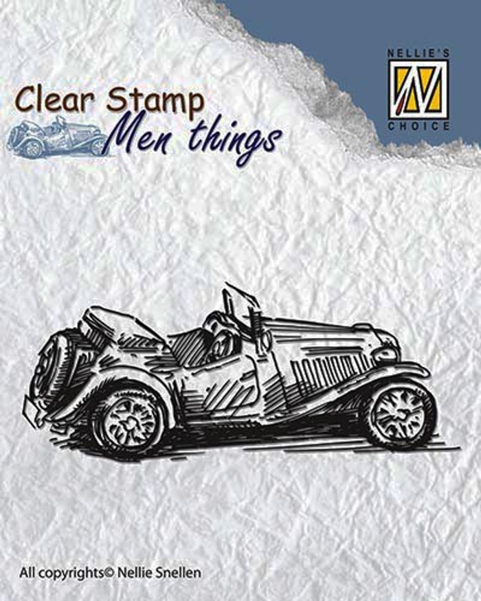 Nellie Snellen Clear Stamp Mens Things - OLDTIMER  CSMT005