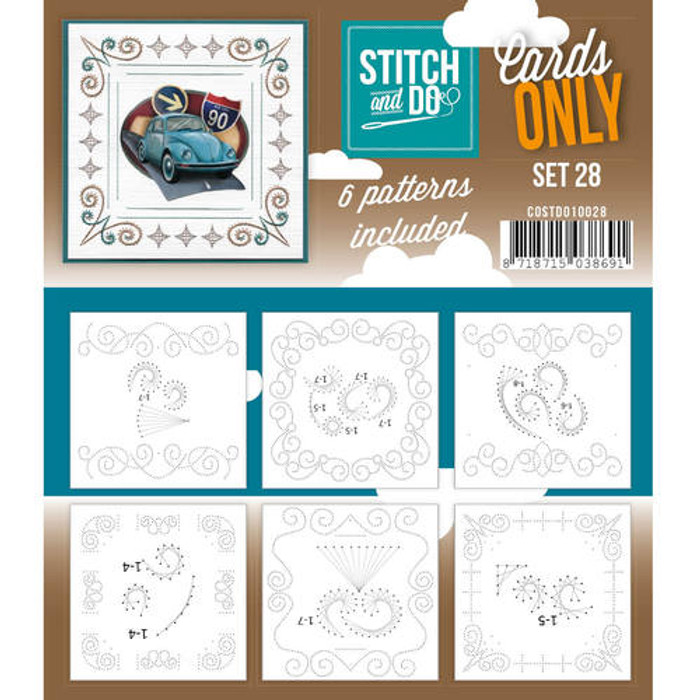 Stitch and Do Card Stitching Cardlayers Only - Set 28