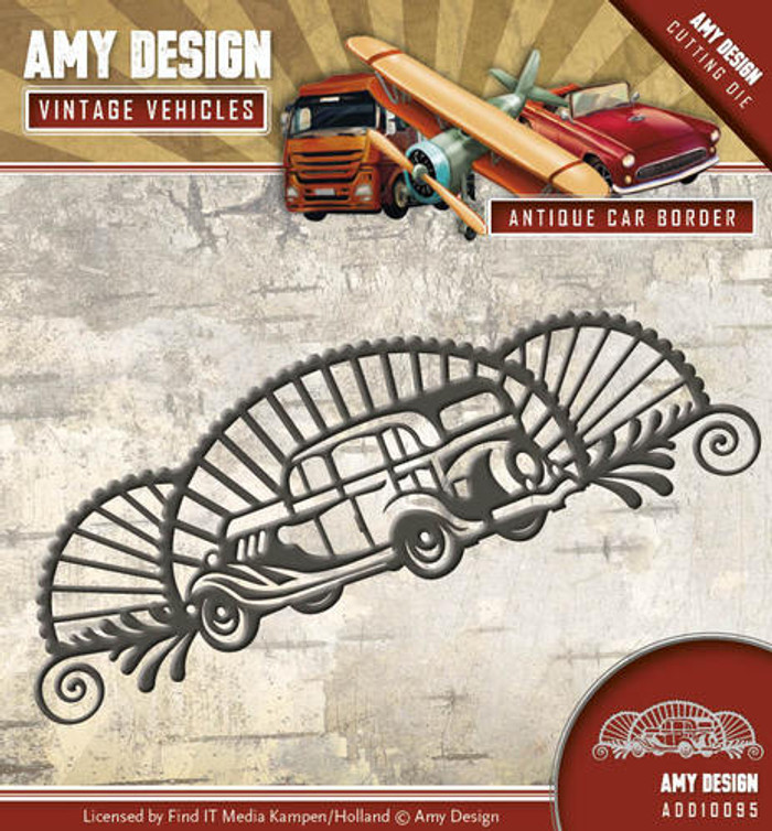 Amy Design - Vintage Vehicles - Antique Car Border - ADD10095